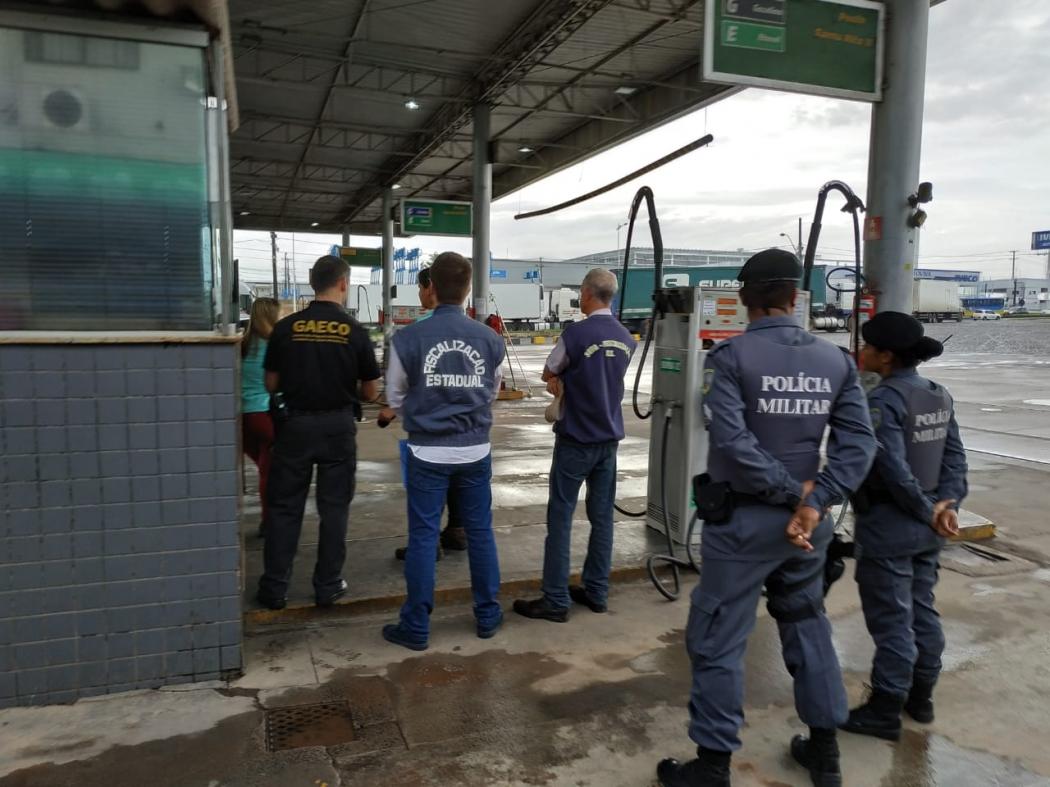 Operação Lídima visava desarticular uma organização criminosa no ramo de combustíveis. Crédito: Divulgação/Sesp