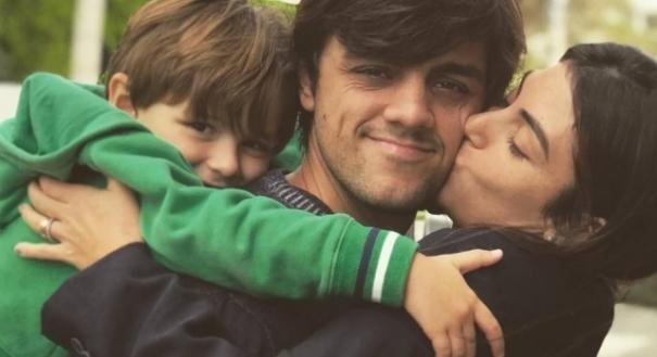 06/12/2018 - Felipe Simas, Mariana Uhlmann e seu filho, Joaquim