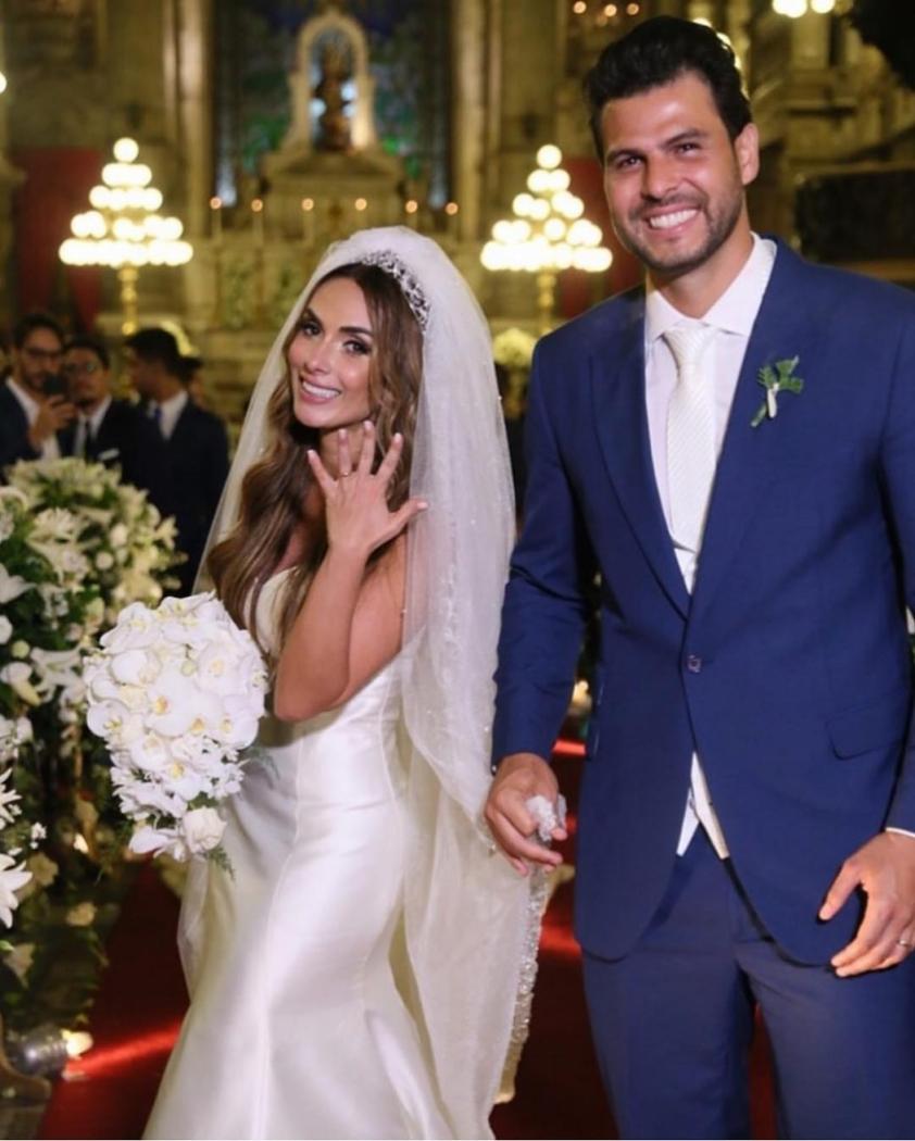 Nicole Bahls e Marcelo Bimbi: casamento na Igreja da Candelária, no Rio de Janeiro