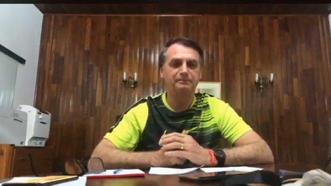 Jair Bolsonaro . Crédito: Reprodução/Facebook