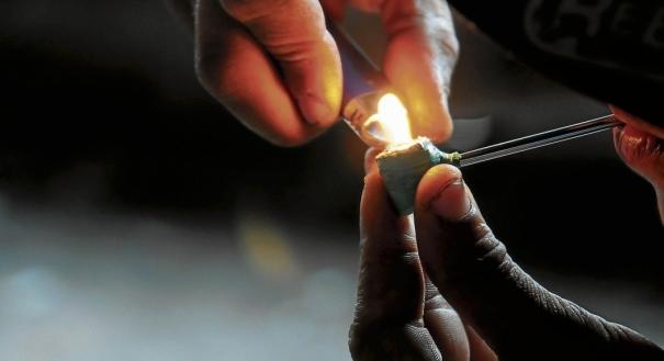 Cachimbo de crack: uso de drogas
