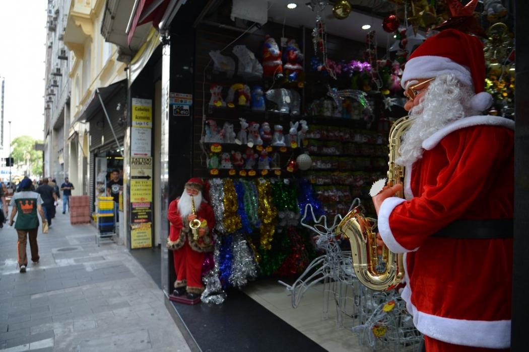 Comércio do centro de São Paulo se prepara para as vendas de Natal (Rovena Rosa/Agência Brasil). Crédito: Rovena Rosa/Agência Brasil