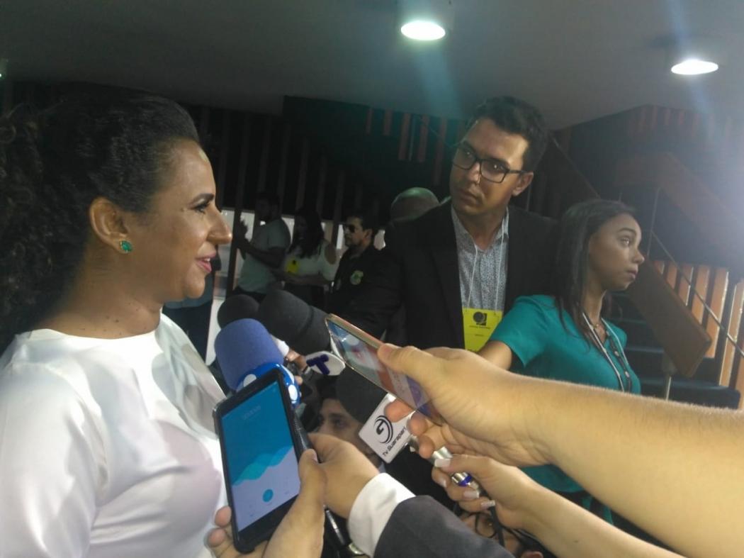 A vice-governadora, Jacqueline Moraes. Crédito: Vitor Vogas