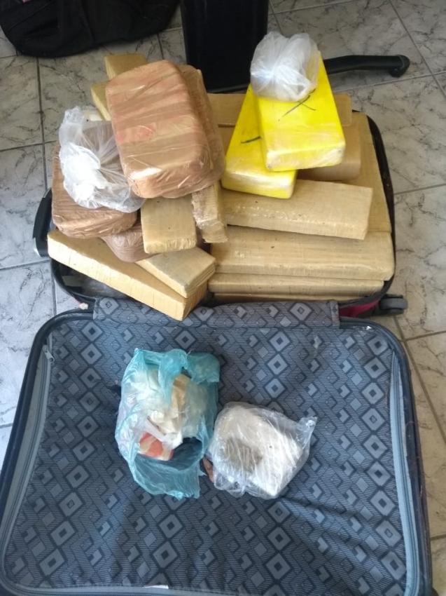 Droga apreendida por policiais militares em São Mateus. Crédito: Divulgação/Polícia Militar