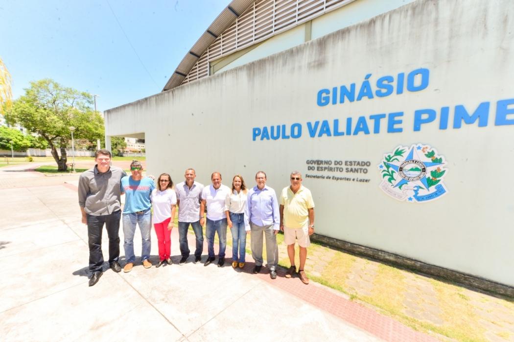 Atletas e ex-atletas vão inaugurar a Calçada da Fama do Esporte Capixaba. Crédito: Pedro Dutra/Secom ES