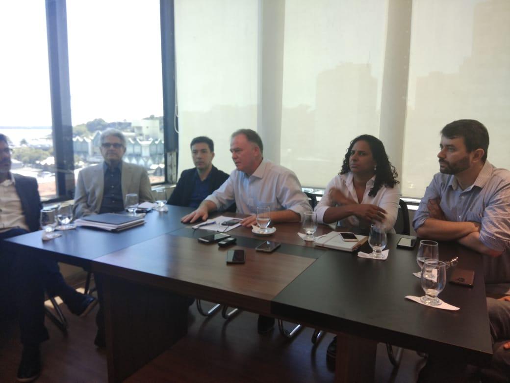 Renato Casagrande durante anúncio de membros do primeiro escalão. Crédito: Vitor Vogas