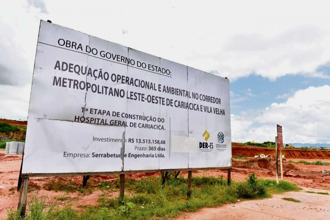 Área onde será construído o Hospital Geral de Cariacica. Crédito: Fernando Madeira