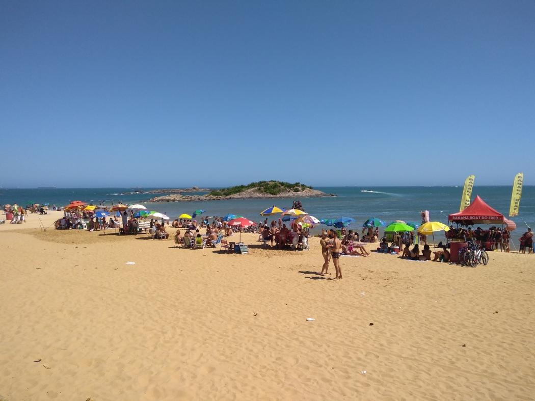 Praia da Costa, em Vila Velha. Crédito: Mariana Martinez