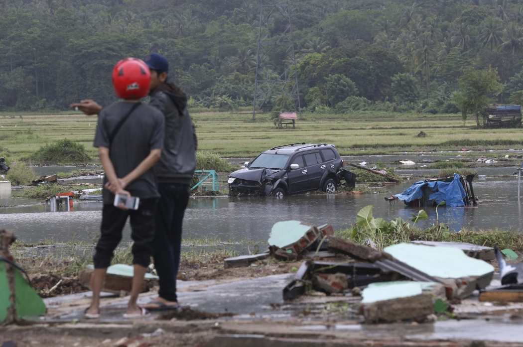Tsunami na Indonésia. Crédito: Achmad Ibrahim