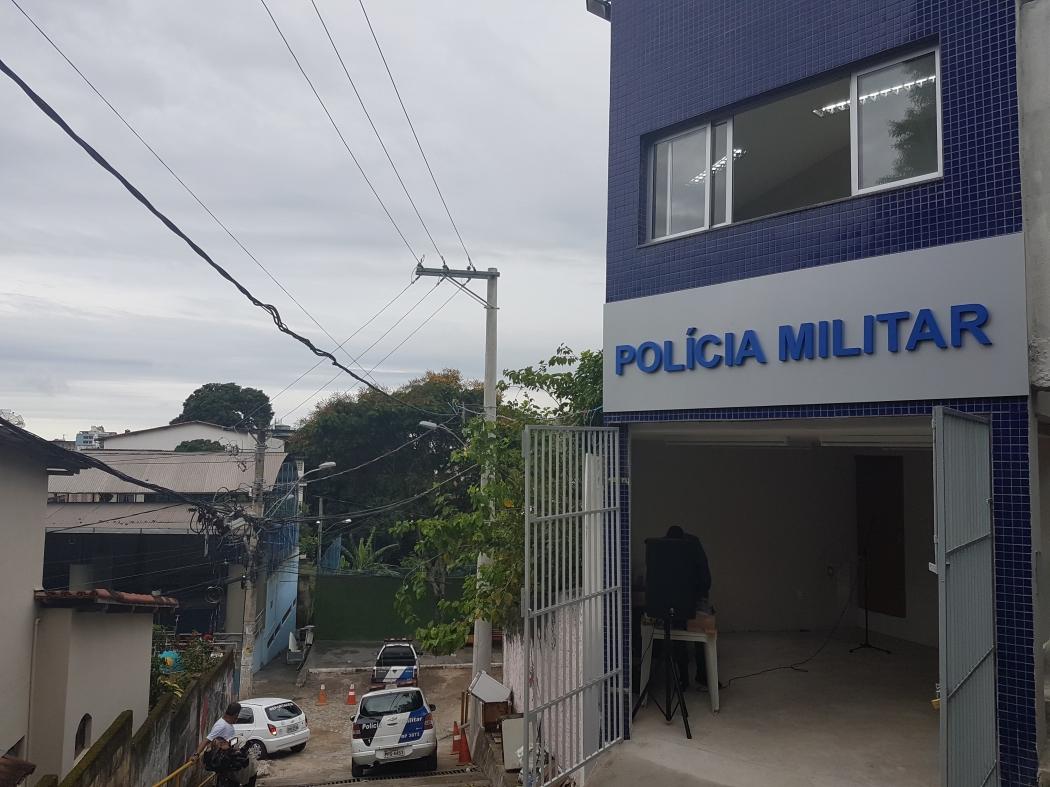 Nova base da Polícia Militar inaugurada no Morro da Piedade, em Vitória. Crédito: José Carlos Schaeffer