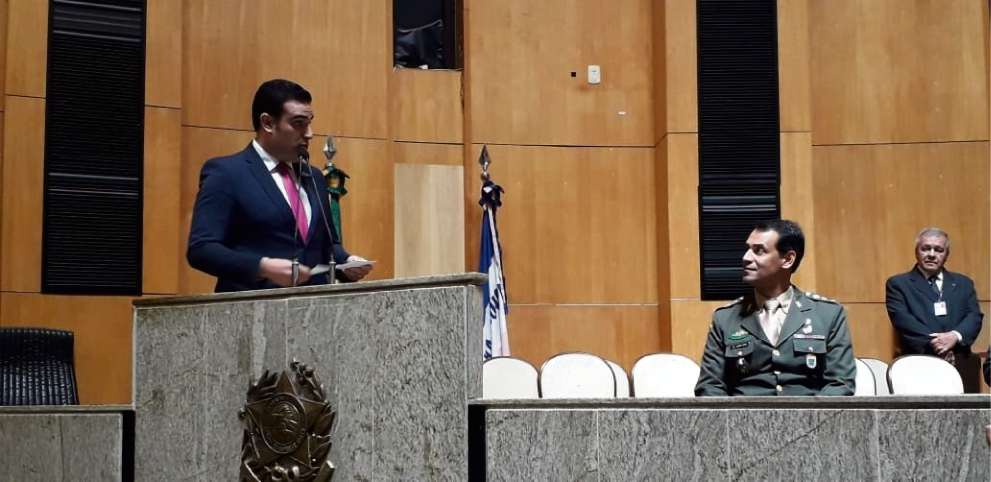 Erick Musso discursa na Assembleia. Crédito: Carlos Alberto Silva