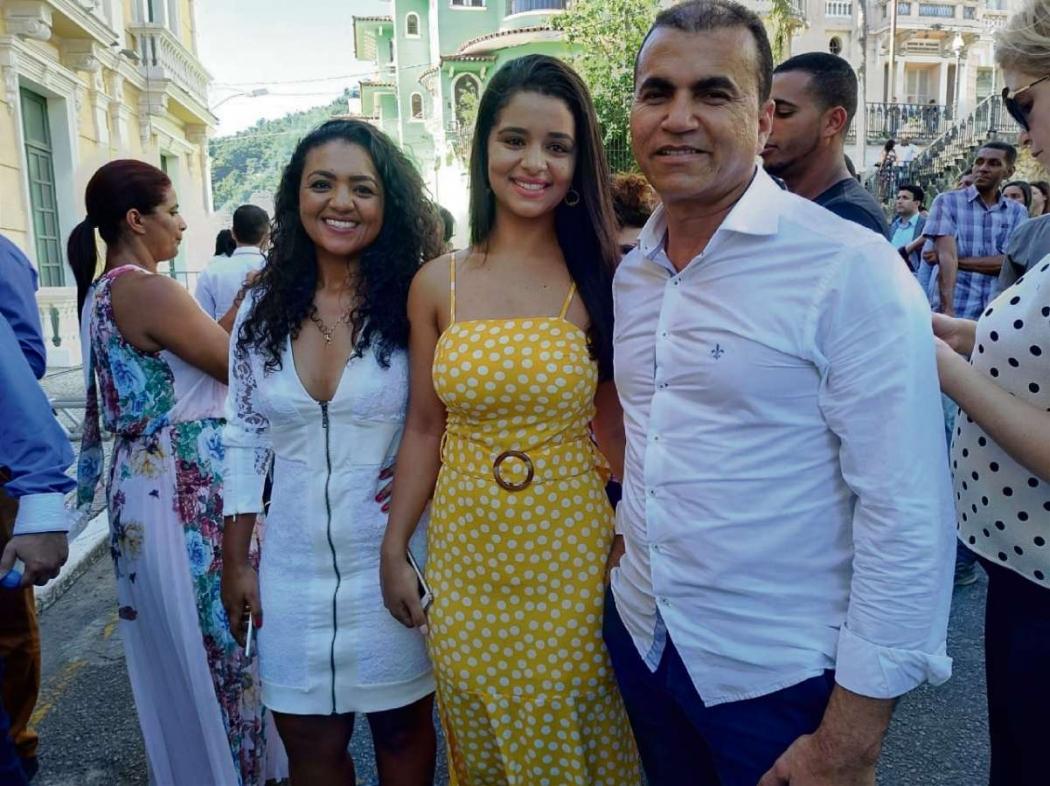 Adeilson Horti Super, Lorrainy Domingos e Joyce Domingos vieram de Vila Velha. Crédito: Maíra Mendonça