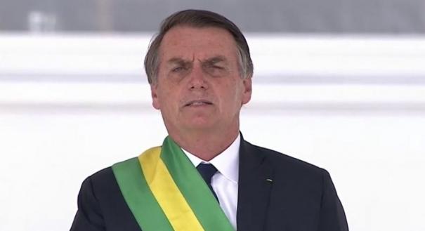 Presidente Jair Bolsonaro na posse. Crédito: Agência Brasil/Divulgação