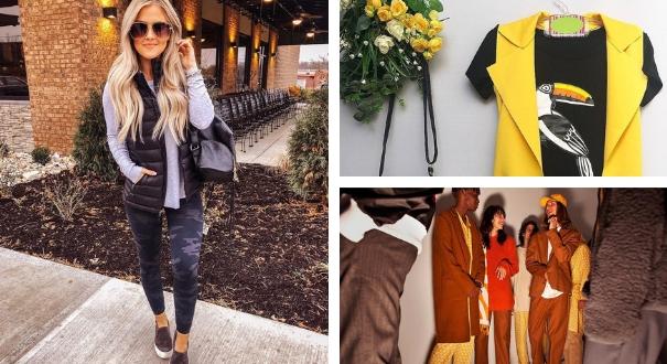 Bermuda de academia, colete amarelo e eventos de moda menores: tendências do mercado para 2019. Crédito: Montagem Gazeta Online
