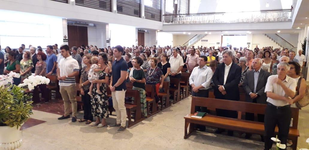 Missa de sétimo dia do ex-governador Gerson Camata. Crédito: Carlos Alberto Silva