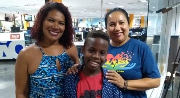 Néia, Jeremias e Edilene em visita à Rede Gazeta
