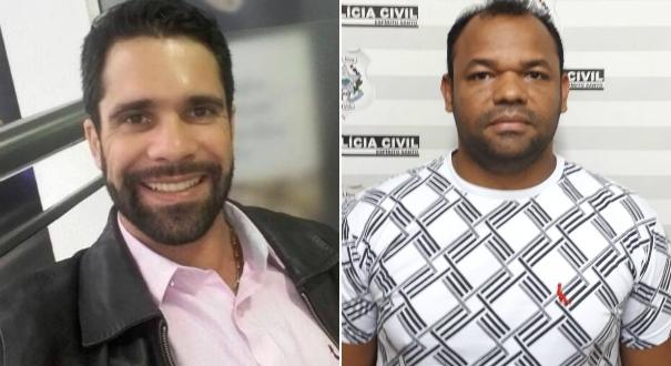 À esquerda, Ramon Colli Oliveira, de 33 anos, que está foragido da polícia; à direita, Adelbrando Vieira Santos, de 39 anos, preso nesta quinta-feira (10)