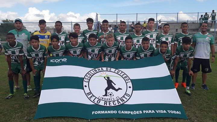 A equipe do Belo Recanto, de Linhares, disputa a competição de base
