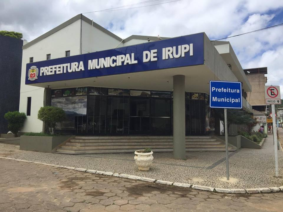 Prefeitura de Irupi. Crédito: Divulgação/PMI