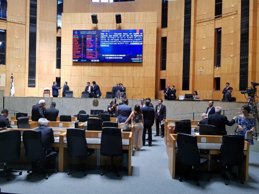 Deputados estaduais aprovam o novo Orçamento. Crédito: Letícia Gonçalves