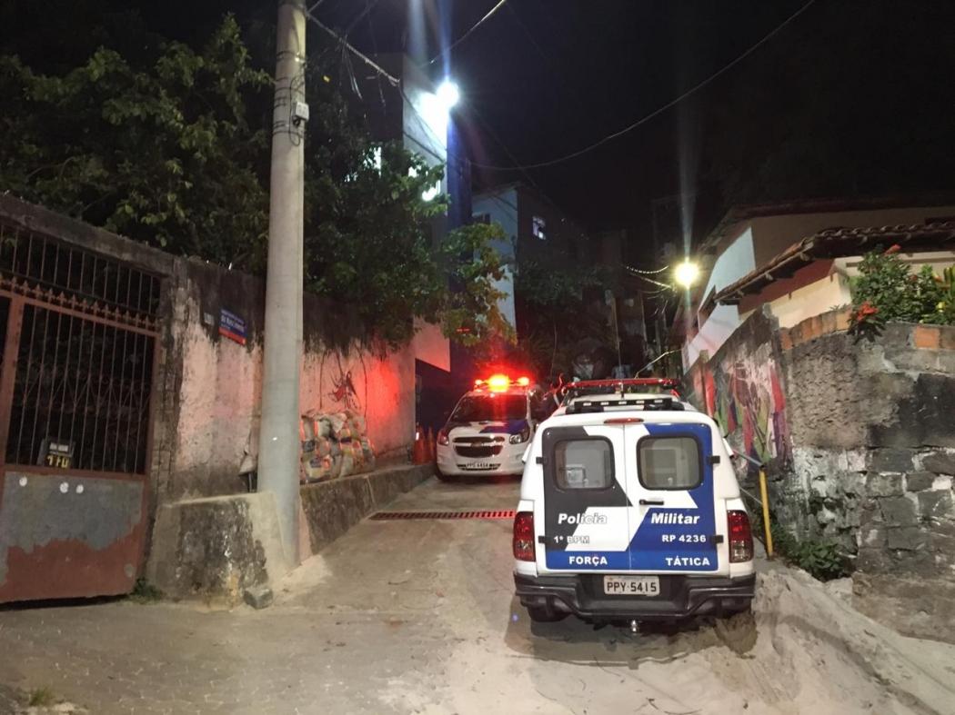 Viatura da Polícia Militar no Morro da Piedade em Vitória. Crédito: Bianca Vailant