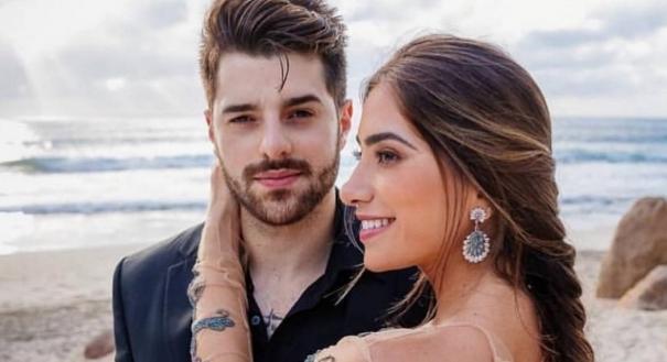 DJ Alok e sua esposa, Romana. Crédito: Reprodução/Instagram