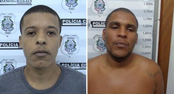 Rafael e Alan apontados pela polícia como líderes do ataque no Morro do Moscoso. Crédito: Divulgação/Polícia Civil