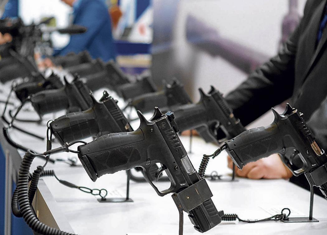 Armas expostas para venda. Crédito: Shutterstock