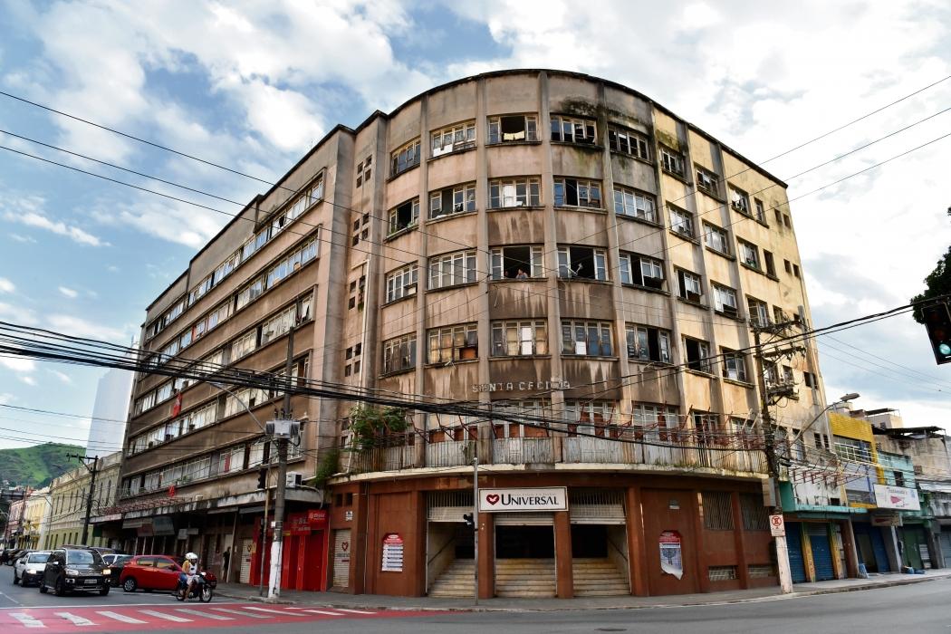 Edifício Santa Cecília, no Centro de Vitória. Crédito: Fernando Madeira