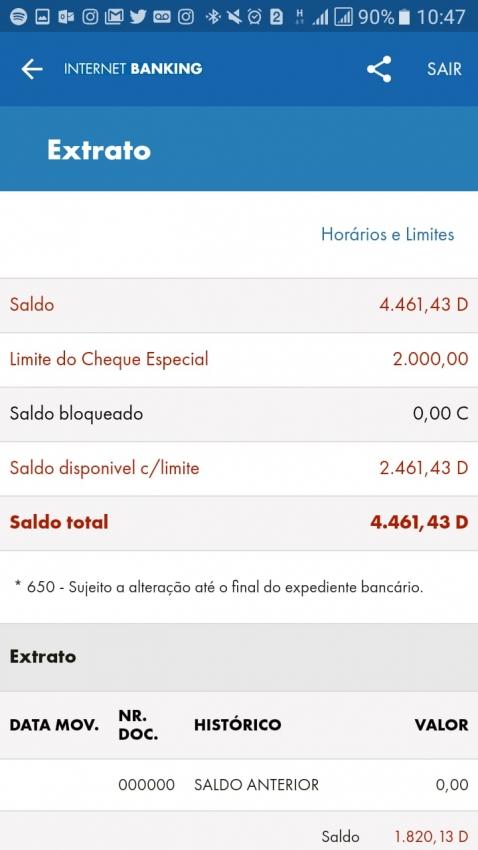 d15f628e1 Usuário reclama de banco por ter conta negativada sem ter gastado o dinheiro
