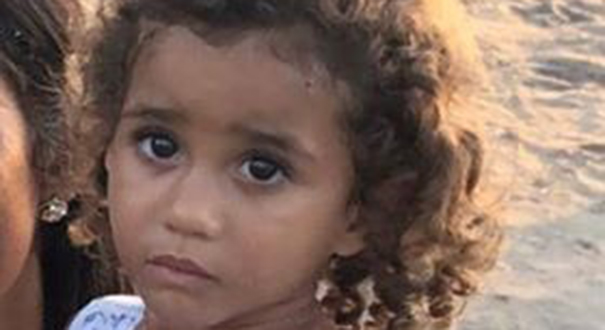 Ana Flávia, de três anos, morreu afogada no Rio do Norte, em Boa Esperança  . Crédito: Arquivo Pessoal