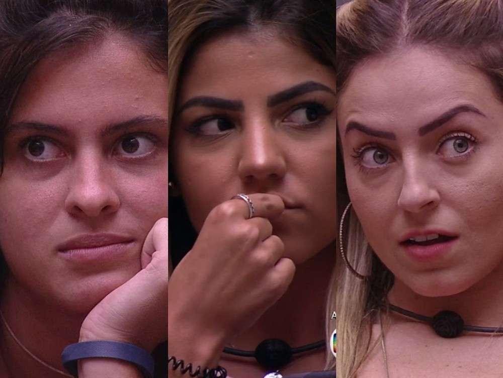 BBB 19: Hana, Hariany e Paula serão isoladas em quarto especial no segundo andar da casa do Big Brother Brasil. Crédito: Reprodução/TV Globo