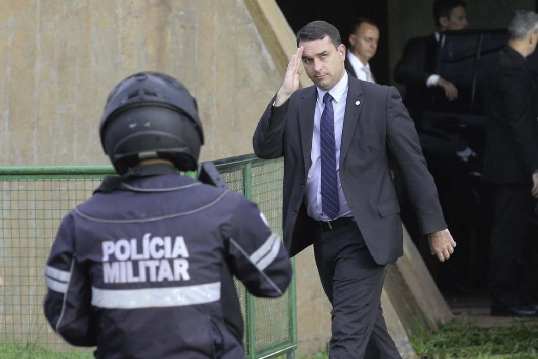 Flávio Bolsonaro, filho do presidente eleito Jair Bolsonaro. Crédito: Fabio Rodrigues Pozzebom/Agência Brasil