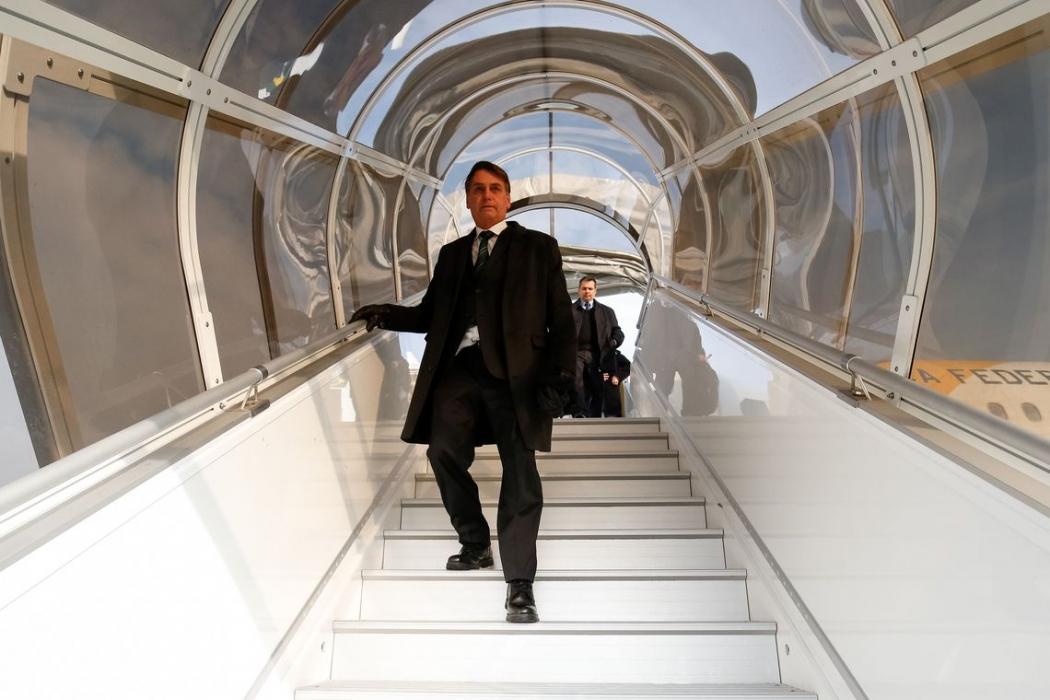 Bolsonaro desembarca em Davos. Crédito: Alan Santos/PR DAVOS