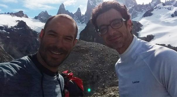 Fabrício Amaral, 42 anos, estava acompanhado do escalador mineiro Leandro Iannotta, conhecido como Mr Bean. Crédito: Arquivo Pessoal