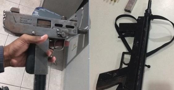 Armas apreendidas em operação da PM. Crédito: Reprodução/TV Gazeta