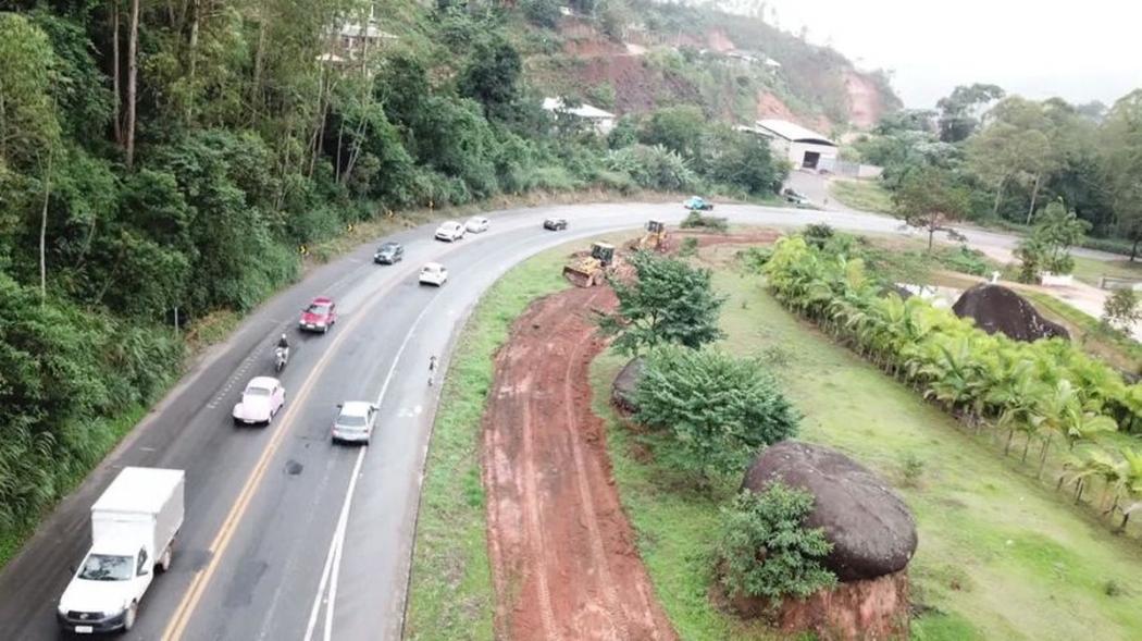 Só parte dos 7,2 quilômetros que estavam sendo duplicados continua em obras. Crédito: Gazeta Online
