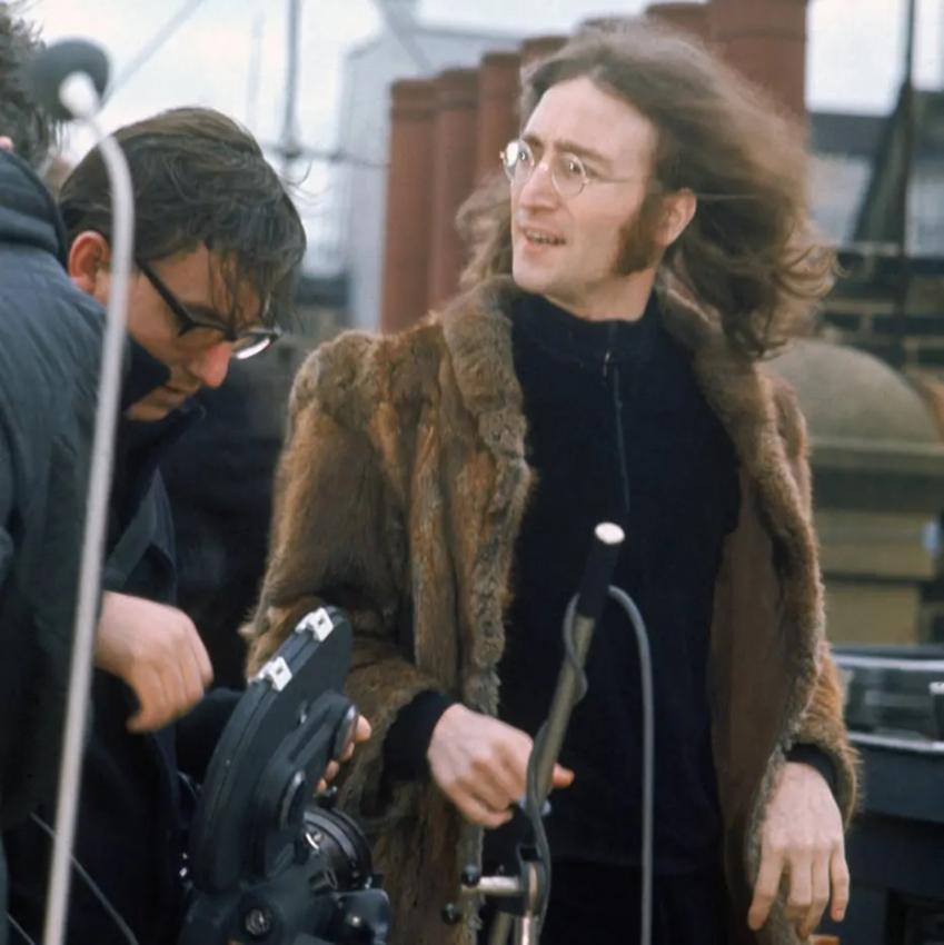 Imagens do último shows dos Beatles, no telhado da Apple Records, em 30 de janeiro de 1969. Crédito: Apple Records
