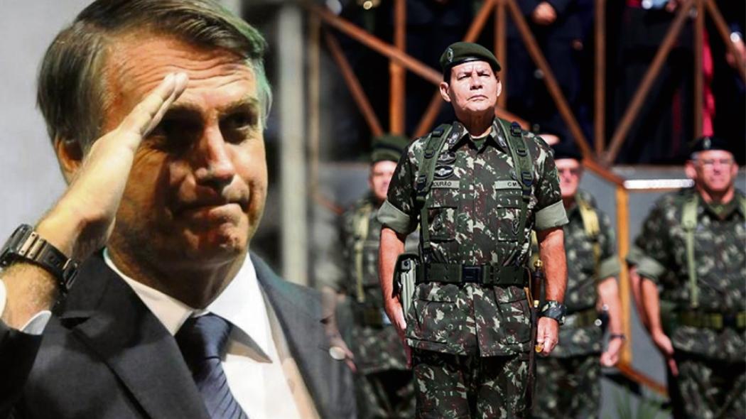 Jair Bolsonaro e seu vice-presidente, General Mourão. Crédito: Blog do Esmael/Reprodução