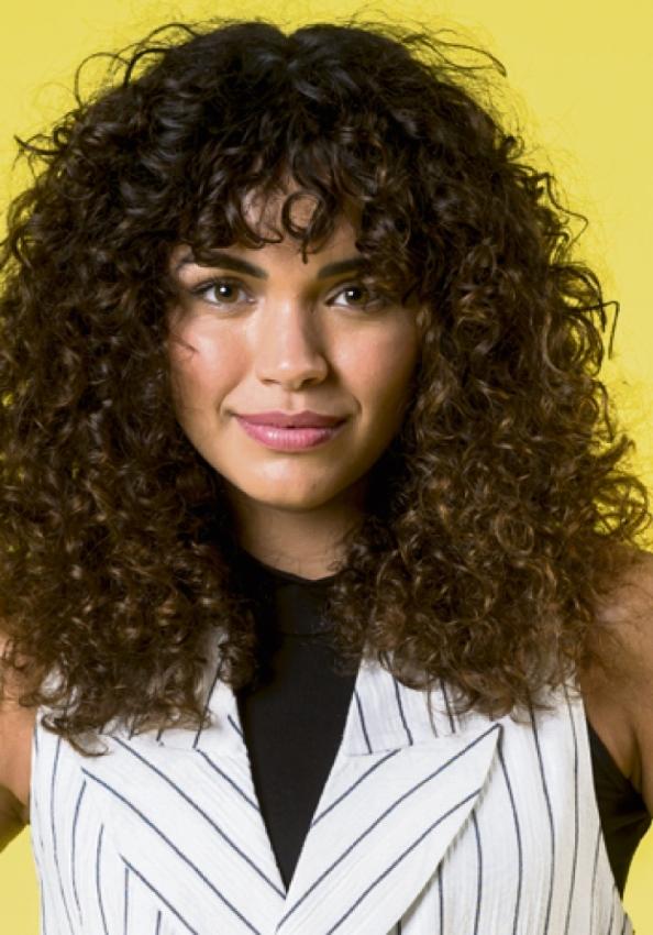 A atriz Giovana Cordeiro. Crédito: Divulgação/ TV Globo