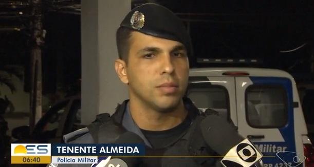 Tenente Almeida . Crédito: Reprodução/TV Gazeta