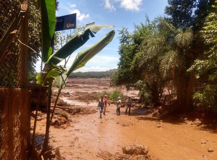 Barragem da Vale se rompe em Brumadinho, na Grande BH, em Minas Gerais. Crédito: Alan Silva Gomes