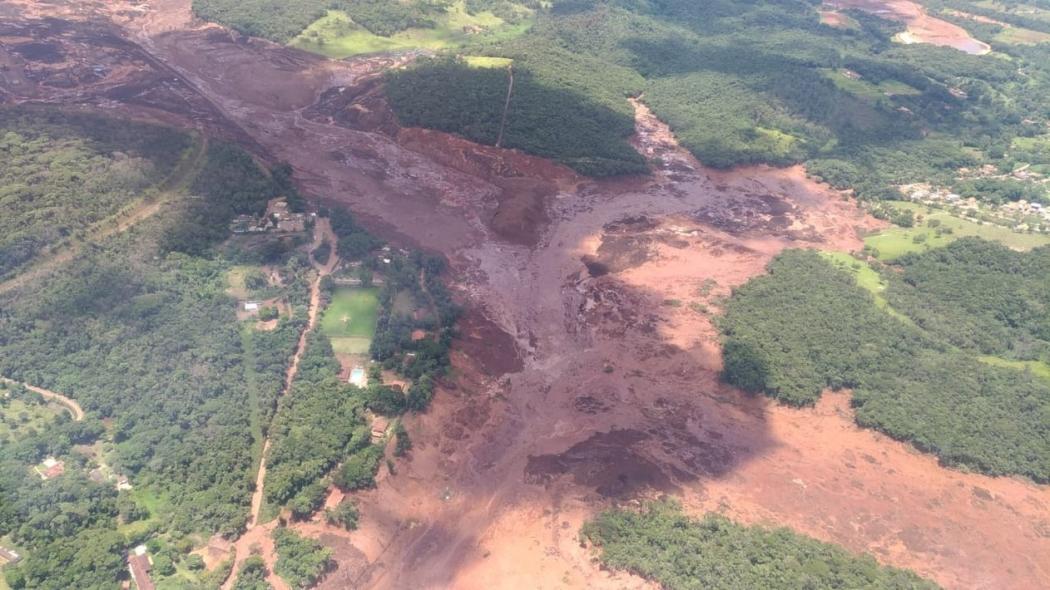 Barragem se rompe em Brumadinho (MG). Crédito: Corpo de Bombeiros