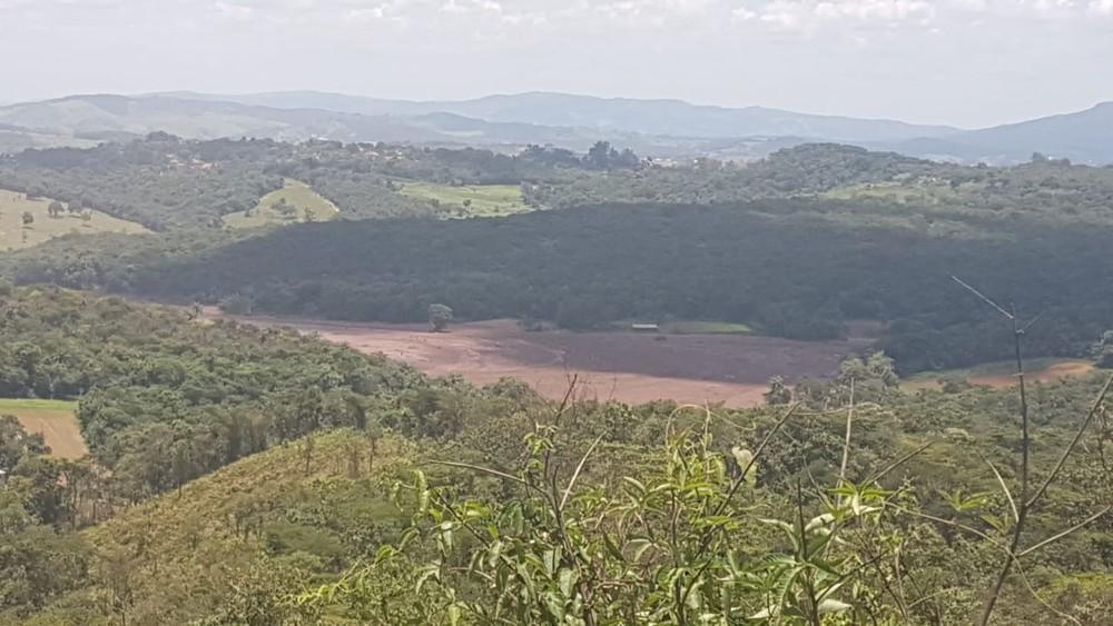 Local onde a barragem teria se rompido. Crédito:  Reprodução/Redes Sociais