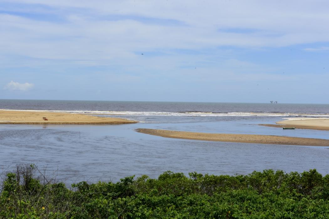 A praia de Barra Seca, em Linhares, no Norte do Espírito Santo. Crédito: Ricardo Medeiros