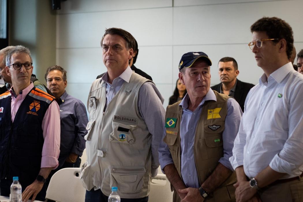 Visita de Jair Bolsonaro a Brumadinho. Crédito: Marcelo Alvarenga