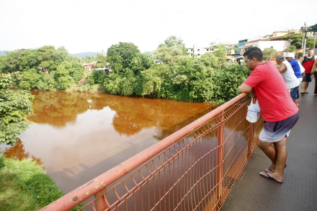 Rejeito de lama do rompimento de barragem da mineradora Vale chega ao Rio Paraopeba em Brumadinho, na região metropolitana de Belo Horizonte . Crédito: Foto: ALEX DE JESUS/O TEMPO/ESTADÃO CONTEÚDO