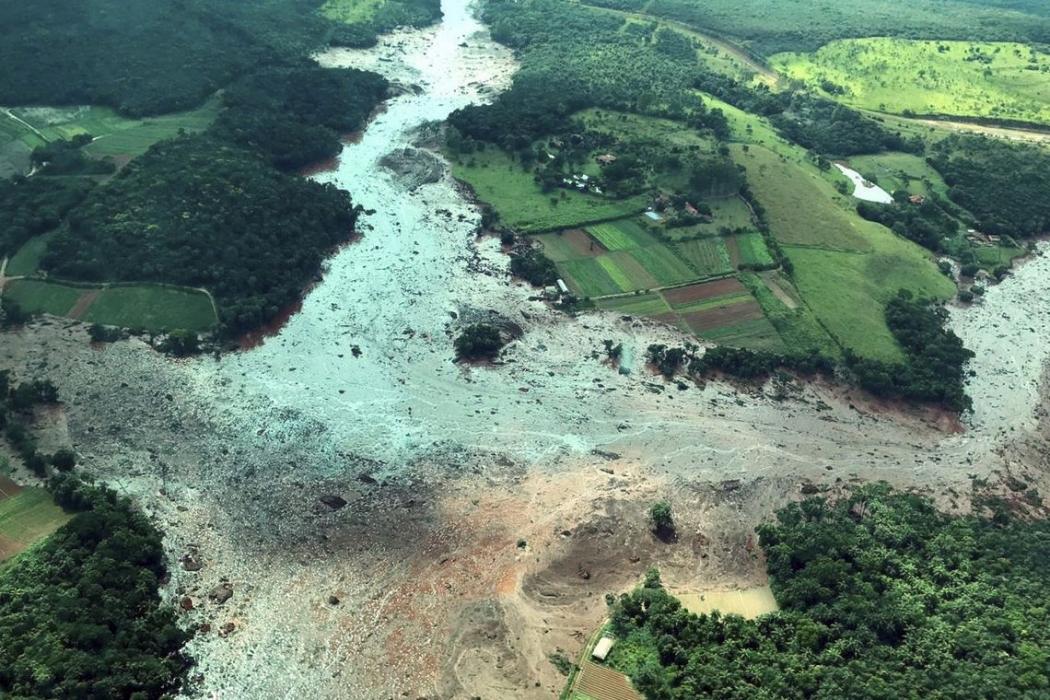 Região atingida pelo rompimento da barragem Mina Córrego do Feijão, em Brumadinho/MG.  . Crédito: Divulgação/Presidência