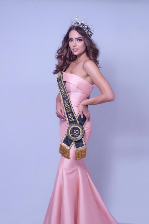 A arquiteta e influenciadora digital Thainá Castro é a nova Miss Espírito Santo 2019. Crédito: Claude Coimbra