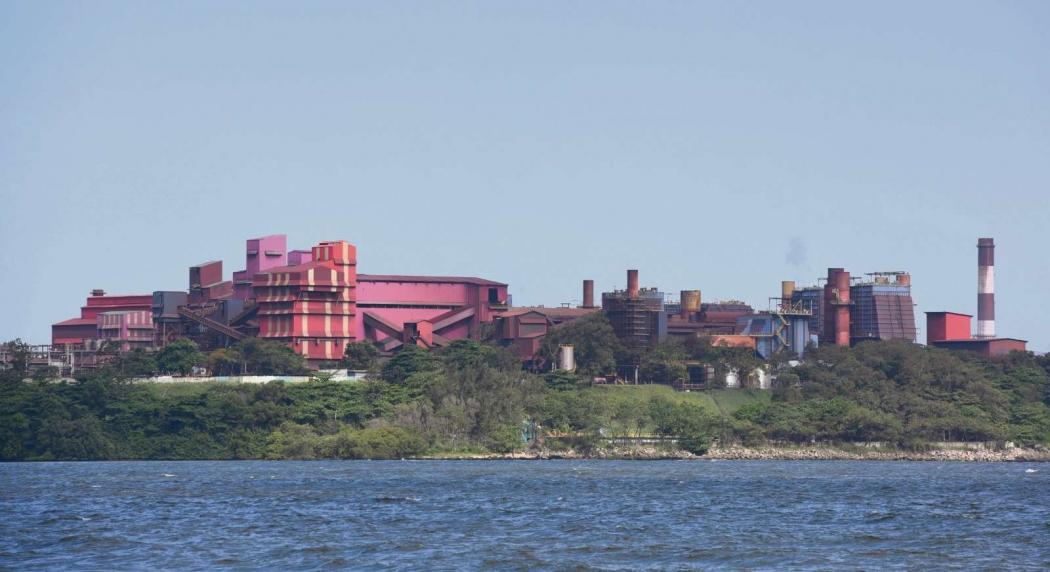 Vista panorâmica das Instalações da /Vale Complexo de Tubarão. Crédito: Carlos Alberto Silva
